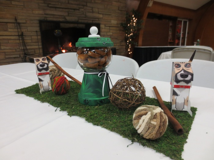 Centerpieces made by Rosanne and available for purchase with proceeds to the Parma Animal Shelter