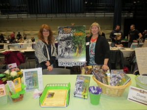 Rosanne (left) and Diane (right) at the Indie Author Showcase